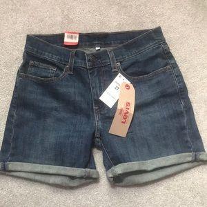 NWT Levi's Mid-length Dark Wash Shorts